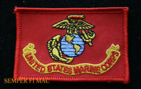 US MARINES BATTLE COLORS HAT PATCH USMC FLAG COLOR GUARD SILENT DRILL USS FMF