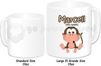 Personalised El Grande Large 15oz Mug- Monkey Design- Any Name