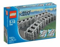 LEGO City Train 7896 Straight/Curved Tracks/Rails Power Functions No Box - NEW