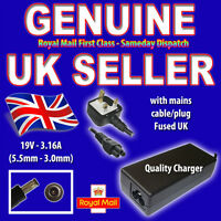 SAMSUNG R60 R60 PLUS AD-6019 LAPTOP AC POWER ADAPTER UK POWER CABLE H172