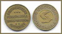 1 (ONE) TRANSIT TOKEN PA 750 AX SOUTHEASTERN PENNSYLVANIA TRANS AUTHORITY