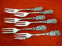 6 Kuchengabeln Hildesheimer Rose 100er Silberauflage Besteck