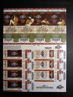 Milwaukee Brewers 2011 Phantom Playoff Postseason Uncut Sheet Unused Ticket Stub