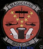 AUTHENTIC MALS-39 MAGICIANS US MARINES PATCH MCAS EL TORO MIRAMAR MAG-39 3D MAW