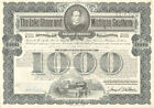 LAKE SHORE MICHIGAN SOUTHERN RAILWAY bond certificate