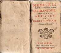MEMOIRES DE BRANTOME LES VIES DES DAMES ILLUSTRES LONDRES 1739