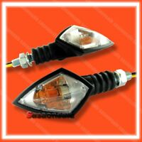 ARMOR - Universal Motorcycle Turn Signals Blinker Indicator Bike - BLACK/CLEAR