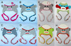 Cute Gorgeous Baby Toddler Children Sock Monkey Ski Style Knit Hat Beanie 8Color