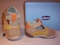 Scarpe scarpine sandali Chicco neonato bimbo primi passi pelle camoscio beige 18
