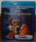 LA DAMA Y EL VAGABUNDO-DISNEY-COMBO BLU-RAY+DVD-LADY AND THE TRAMP-NUEVO-NEW-R2