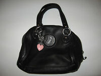 JUICY COUTURE BLACK LEATHER SMALL HANDBAG - EXCELLENT CONDITION