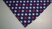 Dog Bandana/Scarf Tie On/Slide On Patriotic Custom Made by Linda XS, S, M, L