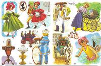 1 Bogen Glanzbilder Kinder Nostalgie MLP 1567 Nr.87