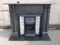 "Victorian Slate Fireplace Surround With Tiled Insert - SS063 (51""H x 56""W)"