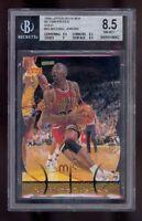 1998 Upper Deck MJX MJ Timepieces GOLD Michael Jordan #45 BGS 8.5 Graded Card