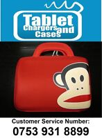 """Red Paul Frank Monkey Hard Shell Carry Case/Bag for 9.7""""/10"""" Inch Tablet PC"""