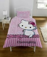 Charmmy Kitty Hello Kitty Panel Single Bed Duvet Quilt Cover Set Brand New Gift