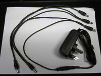 9V Power Supply AC-DC Adaptor Boss PSA-240 PSA-230ES PSA-230S 5 Way Daisy Chain