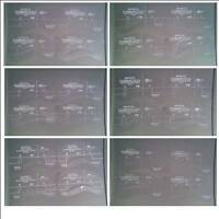 Eyebrow Stencils - 24 designs to choose from - 4 in a pack. UK Seller Fast Post
