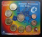 2009 - EUROS ESPAÑA SET OFICIAL CON MONEDA 2 EUROS 10 ANIVERSARIO