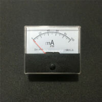 Analog Amp Panel Meter Current Ammeter DC 0-100mA 100mA