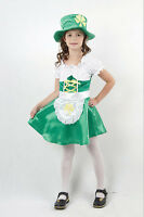 GIRLS IRISH LEPRECHAUN ST PATRICKS DAY FANCY DRESS COSTUME