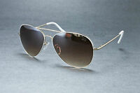 Classic White Aviator Inspired Metal Frame Sunglasses with Spring Hinge Temples