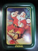 Coca Cola Rectangle Santa Tray - New - Replica