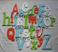 Complete Alphabet Set Various Fonts/Sizes Painted Wooden Wall Letters Nursery