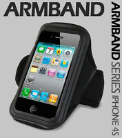 BLACK SPORTS RUNNING CYCLING JOGGING GYM ARMBAND ARM CASE FOR IPHONE 3GS/4/4G/4S