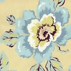 RETRO Amy Butler GYPSY CARAVAN Fabric FQ WILD POPPIES Quilting FUNKY Floral Blue