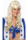 Ladies Woman Wigs Costume Fancy Dress Up Long Blonde Elise Curly Fringe