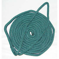 1/2 x 15 Ft Forest Green Double Braid Nylon Mooring and Docking Line for Boats