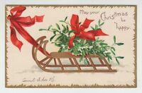 [33034] OLD POSTCARD ARTIST SIGNED ELLEN H. CLAPSADDLE CHRISTMAS CARD