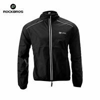 ROCKBROS Cycling Coat, Wind Coat, Rain Coat, Long Sleeve, Black
