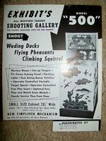 Exhibit MODEL 500 Arcade Gun Game Flyer