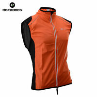 ROCKBROS Cycling Vest,Wind Vest,Windvest,Sleeveless, Orange