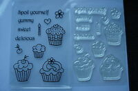 Kanban ~ Cutie Cupcakes ~ Spoil Yourself ~ Clear Acrylic Stamps x 12 ~ A6 Sheet