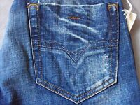 DIESEL VIKER SPECIAL 89P MENS SLIM FIT STRAIGHT LEG JEANS SIZE 26 NEW ITALY MADE