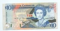 1993  Eastern Caribbean States 10 Dollar Note MINT CRISP Pick 27G Scarce **