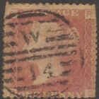 (GB5) 1858-1870 Queen Victoria 1D Red Brown Plate no.82
