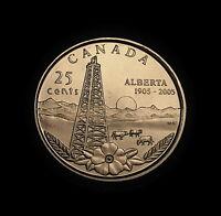 2005 Canada Quarter ALBERTA CENTENNIAL ** BU MINT ** FROM RCM ROLL