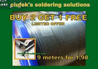 1,0 mm/ 3m HQ Solder Wire Lead 60/40 Flux Multicored Solder for SMD DIY etc
