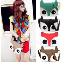 Fashion Contrast Color Owl Messenger PU Material Hobo Shoulder Bag Tote