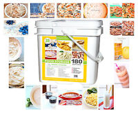 LINDON FARMS 180 SERVING FREEZE-DRIED EMERGENCY SURVIVAL FOOD STORAGE KIT BUCKET