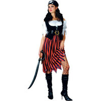 SWASHBUCKLER PIRATE WOMAN Fancy Dress Costume X LARGE Sizes 22 to 24