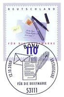 BRD 2000: Tag der Briefmarke Nr. 2148 mit dem Bonner Ersttags-Sonderstempel! 1A!