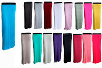 NEW LADIES WOMEN LONG JERSEY GYPSY MAXI SKIRT ALL COLORS AND SIZES 8-10-12-14