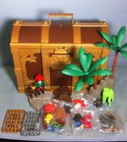 Playmobil Pirate Treasure Chest 5737 Set Sword Trees Monkey Gun Coin Accessories