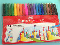 FABER-CASTELL Color Pens  20 Colors *Big Sales - FREE SHIPPING
